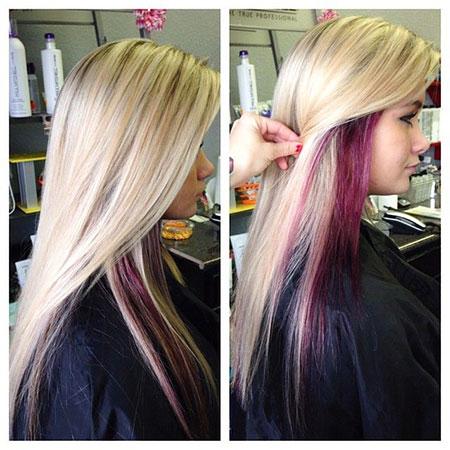 Hair Blonde Purple All